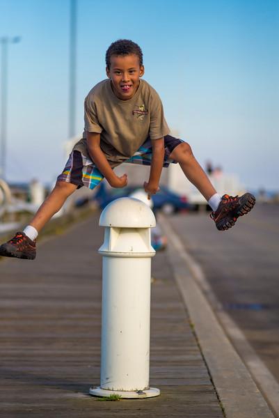 David Pinker jumping