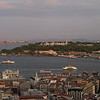 entrance to Golden Horn w Topkapi Palace from Galata Tower