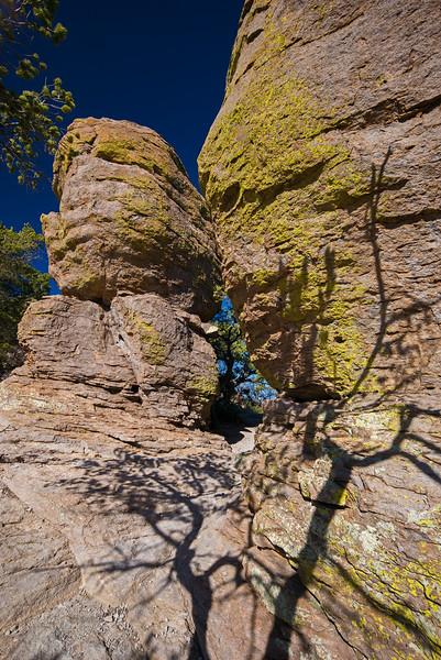 shadows on rock Chiricahua