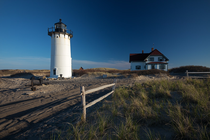 Race Point Lighthouse with anchor fence house