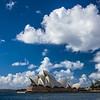 puffy clouds Sydney Opera House