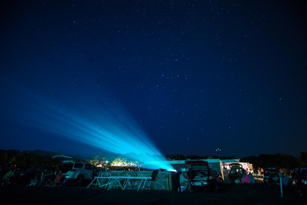 projector beam Wellfleet Drive-In