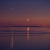 Bay at night w Venus Moon Jupiter