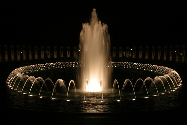 WWII Memorial at Night - The Fountain