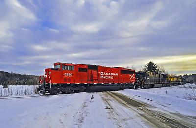 Montreal Maine & Atlantic ``fuel train``, Foster, Quebec