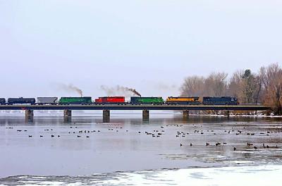 Montreal Maine & Atlantic, #2, ``fuel train``  St Jean, Quebec