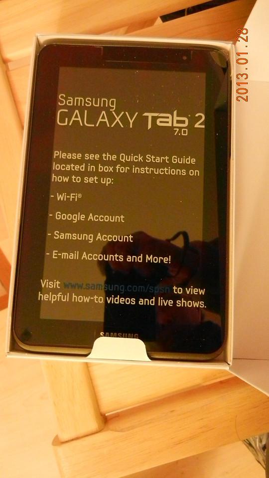 Tab with Samsung sticker