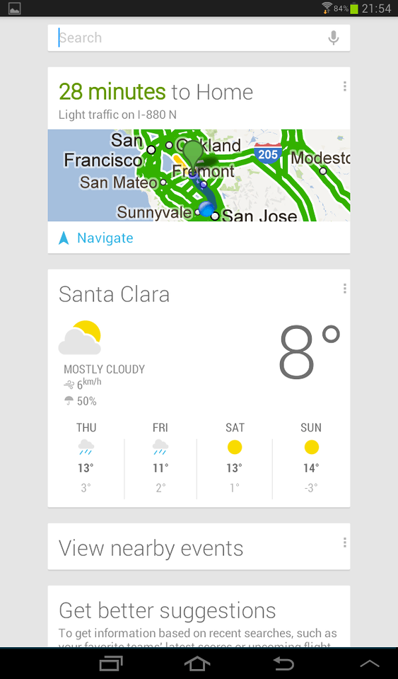 the Google widget knows I am still at work and show me traffic to go home