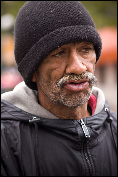 This is Fred, he and friend John asked for some change,and after recieving some, was glad for to take some shots. It was nice how they were looking after each other!
