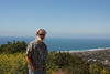 On Mt. Soledad overlooking La Jolla.