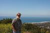 On Mt. Soledad overlooking La Jolla.