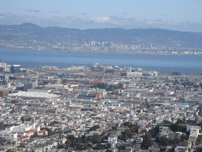 Looking east over the Mission District