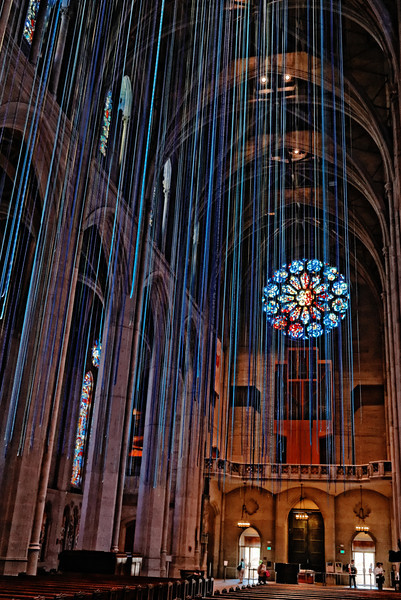 Steamers inside Grace Cathedral