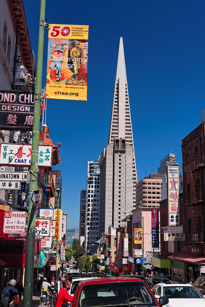 Transamerica Tower seen from China Town