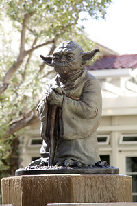 Yoda statue in front of the Lucasfilm headquarters