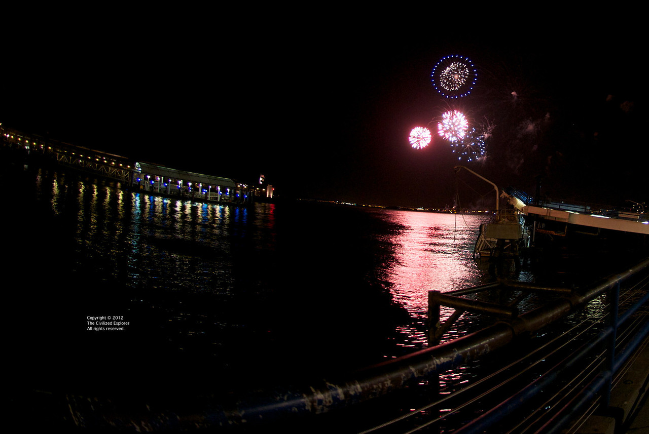 Fireworks for one of the local dinner cruise lines.