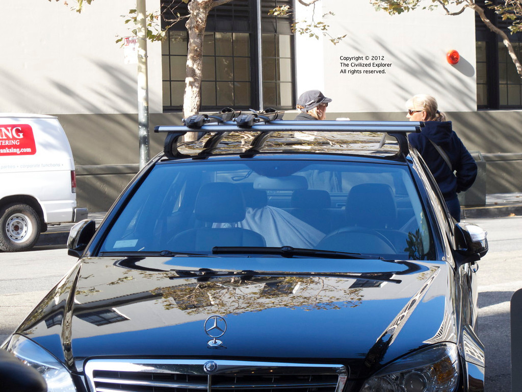 In San Francisco, even the Mercedes Benzes have bike racks on the roof.