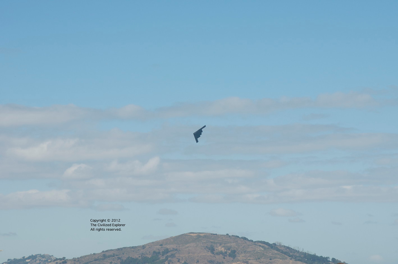 A B-2 bomber flew over, too.