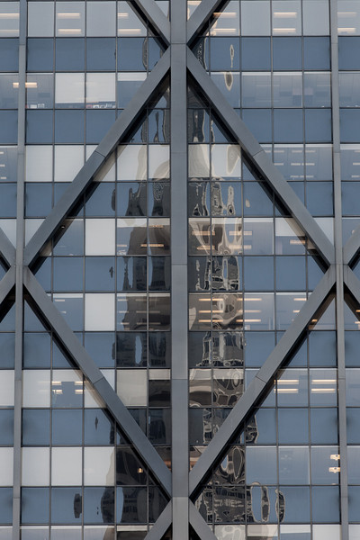 Transamerica Pyramid reflected in the Alcoa Building.