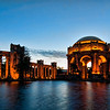 The Palace of Fine Arts just after sunset