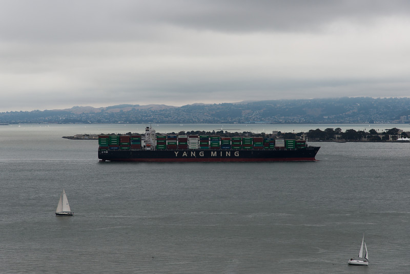 Cargo ship heading for Oakland