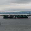 Cargo ship heading for Oakland