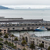 San Francisco Bay as seen from the balcony of my room at the Hyatt.