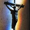 Nice light stikes a statue of Jesus