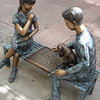 Another set of bench statues