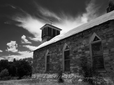"""Sweeping Cloud""-Chapel of San Jose-Picacho. NM"
