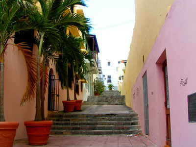 another pretty alleyway in old San Juan