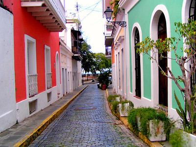 one of the many beautiful alleyways in old San juan