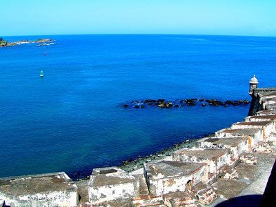 View out to sea from El Morro