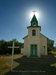 "Title: ""Steeple Glow""  San Patricio, NM"