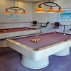 Billiard room on lobby level
