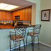 Granite countertop eating area with 2 Barstools