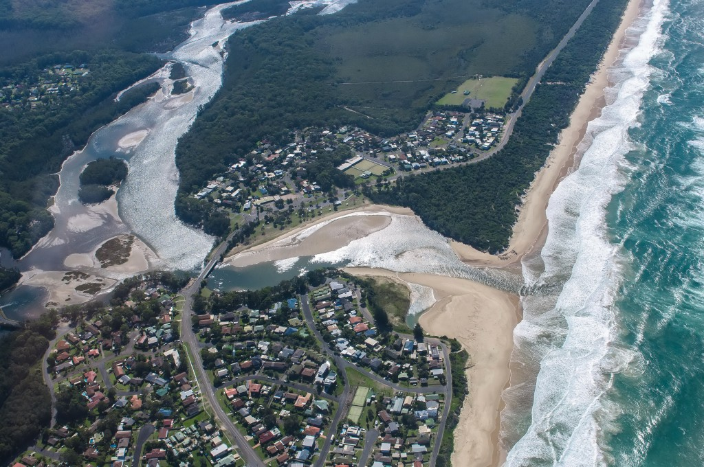 Nourishment area is immediately south of the river mouth