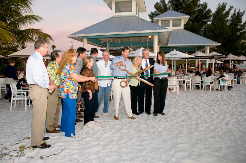 "the Ribbon Cutting ceremony at the Sandbar Restaurant on Anna Maria Island. The new weddings & events pavillion is beautiful!  The new deck in front of the restaurant is the perfect place to enjoy a great meal, great entertainment, and a great sunset!    <a href=""http://www.GrouperSandwich.com"">http://www.GrouperSandwich.com</a>"