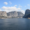 The view of Hetch Hetchy from O'Shaughnessy Dam.
