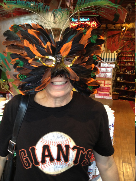 Giants rule! Playing in New Orleans after arriving and before getting to work.