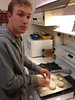 Back in Walnut Creek, Cooper makes Saturday morning biscuits.