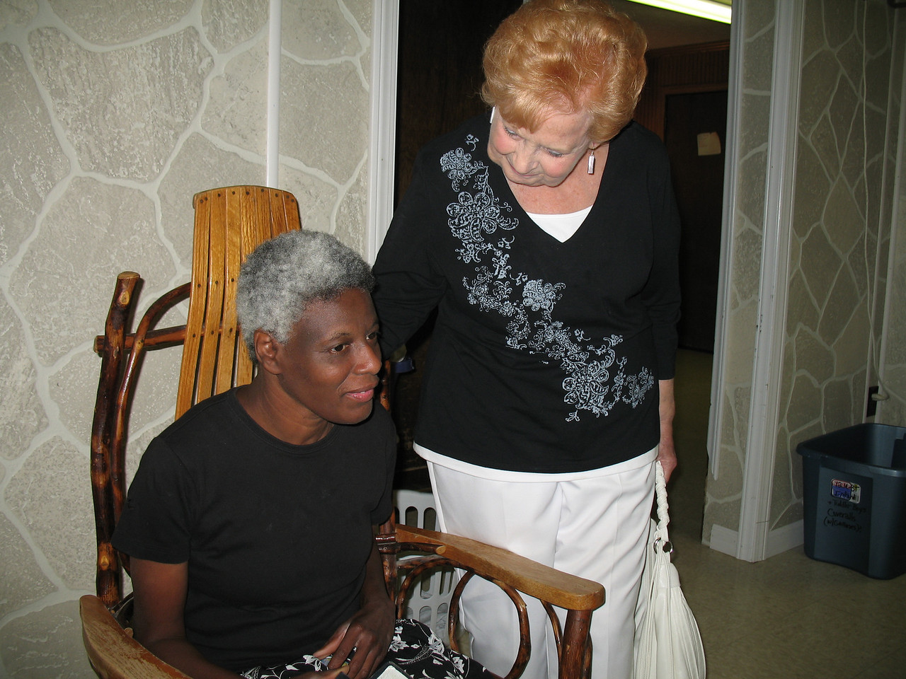 Rosie Tucker and Aunt Elaine in the Blessing House.
