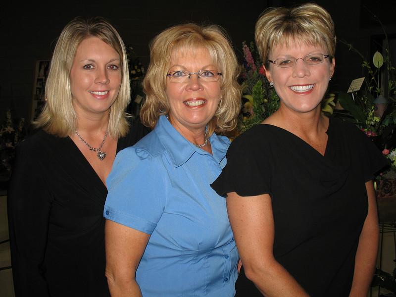 Becky Martin, Debbie Tucker, and Heidi Tucker