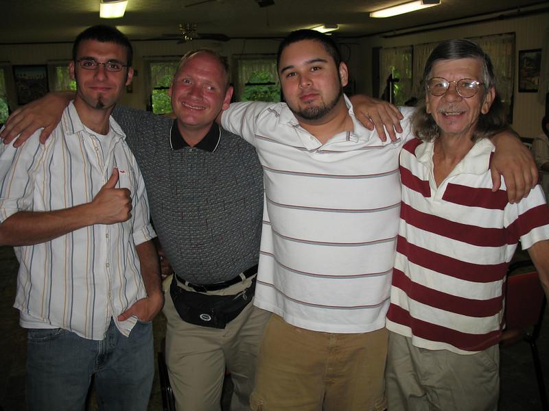 Sean Turner, George Tucker, Jay Burda and Pat Burda