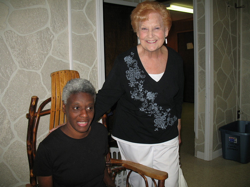 Rosie Tucker and Aunt Elaine in the Blessing House