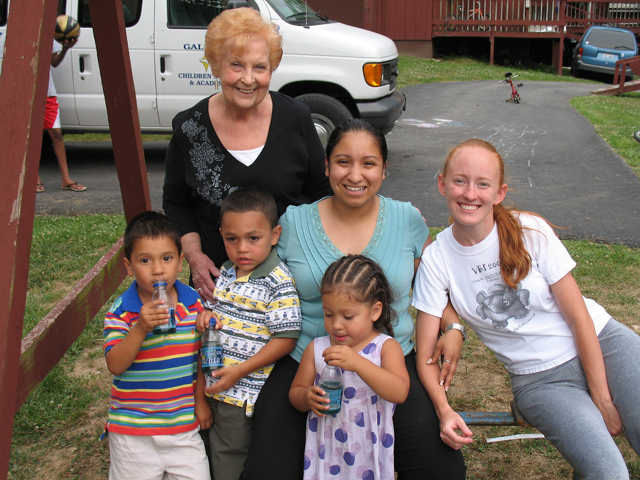 Autn Elaine and the Kids