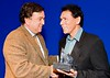 "<font color=""#FFFFFF""> Governor Bill Richardson and actor Wes Studi"