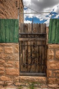 Wood and metal gate, Santa Rosa, NM