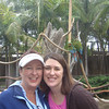 HERE WE ARE AT THE SANTA BARBARA ZOO...REALLY HAD A GREAT DAY!!  P.S.  SEE THE PARROTS IN THE BACKGROUND??