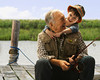 CO1.1 / We can use the pick-up here or there was a note to research something similar.<br /> <br /> Choice 11 of 13<br /> <br /> West New York, New Jersey, USA --- Caucasian grandfather and grandson fishing together --- Image by © KidStock/Blend Images/Corbis